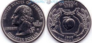 25 центов 1999 04(B)-Georgia (D) Тип I