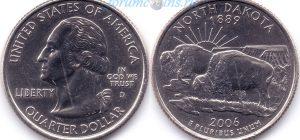 25 центов 2006 39(B)-North Dakota (D) Тип I