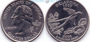 25 центов 2008 46(B)-Oklahoma (D) Тип I