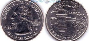 25 центов 2009 02(B)-Puerto Rico (D) Тип I