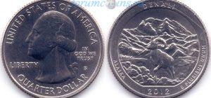 25 центов 2012 15(C)-Denali-Alaska (S) Тип I