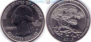 25 центов 2013 18(B)-Great Basin-Nevada (D) Тип I