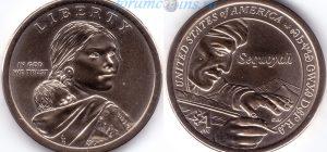 1 доллар 2017 09(B)-Sequoyah of the Cherokee Nation (D) Var.1