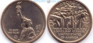 1 доллар 2019 05(B)-Georgia-Trustees' Garden (D) Dn(Ɐ)